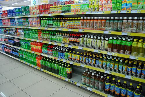 rayon soda supermarché
